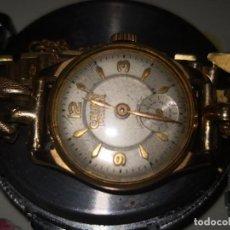 Relojes de pulsera: ELEGANTE RELOJ DE SEÑORA MARCA CAUNY PRIMA FUNCIONANDO CON NUMERACIÓN 78843 EN PLACA. Lote 171651604