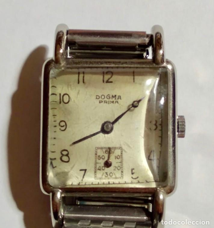 Relojes de pulsera: ANTIGUO RELOJ DOGMA PRIMA WISS MADE 17 JEWELS . 29 X 42 M/M. - Foto 4 - 172017488