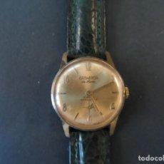 Relojes de pulsera: RELOJ SEÑORA O CADETE ESFERA DORADA .CASWATCH DE LUXE. MECANICO 17JEWELS. SWISS. SIGLO XX. Lote 172090714