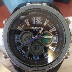 Relojes de pulsera: RELOJ CASANOVA ( RARO ) WR 30M ANALÓGICO Y DIGITAL. MÁS RELOJES EN MÍ PERFIL. Lote 172161662