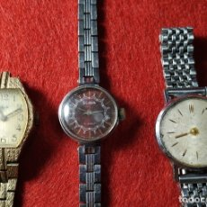 Relojes de pulsera: SLAVA, LUCH - LOTE 3 RELOJES RUSOS SRA. URSS - A RESTAURAR O PARA PIEZAS - SOVIETS - GUERRA FRIA. Lote 172174348