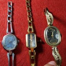 Relojes de pulsera: SLAVA, LUCH - LOTE 3 RELOJES RUSOS SRA. URSS - A RESTAURAR O PARA PIEZAS - SOVIETS - GUERRA FRIA. Lote 172174794