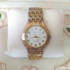 Relojes de pulsera: RELOJ ( P.F. QUARTZ EUROPEAN DESING ), CAJA 33 MM. FUNCIONANDO. ( MÁS EN MÍ PERFIL ). Lote 172352477