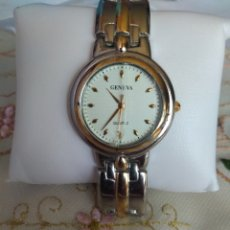Relojes de pulsera: RELOJ ( GENEVA QUARTZ ) CAJA DE 33 MM. FUNCIONANDO MÁS EN MÍ PERFIL ). Lote 172363594