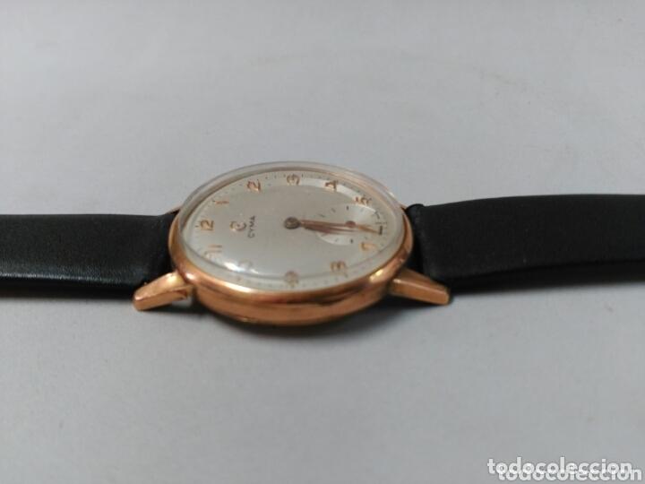 Relojes de pulsera: Reloj de caballero Cyma, en oro, carga manual, funcionando - Foto 11 - 63099488