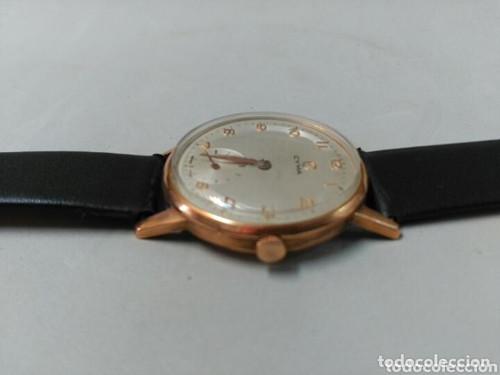 Relojes de pulsera: Reloj de caballero Cyma, en oro, carga manual, funcionando - Foto 12 - 63099488