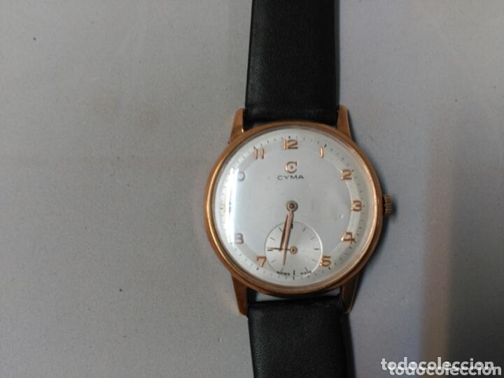 Relojes de pulsera: Reloj de caballero Cyma, en oro, carga manual, funcionando - Foto 13 - 63099488
