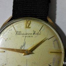 Relojes de pulsera: RELOJ DE PULSERA, MARCA VILLANUEVA WATCH, 17 RUBIS, DIAMETRO 35 MM, FUNCIONA. Lote 172582199