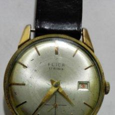 Relojes de pulsera: RELOJ DE PULSERA, MARCA FLICA, 17 RUBIS, DIAMETRO 33 MM, FUNCIONA. Lote 172582260