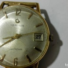 Relojes de pulsera: RELOJ DE PULSERA, MARCA CERTINA - CERTIDATE, PLAQUE G 20, DIAMETRO 33 MM, FUNCIONA. Lote 172582412