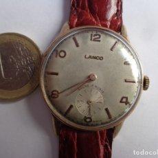 Relojes de pulsera: ANTIGUO AÑOS 50 E IMPORTANTE RELOJ CABALLERO CUERDA LANCO, MUY BUEN ESTADO FUNCIONANDO GRANDE. Lote 172716877