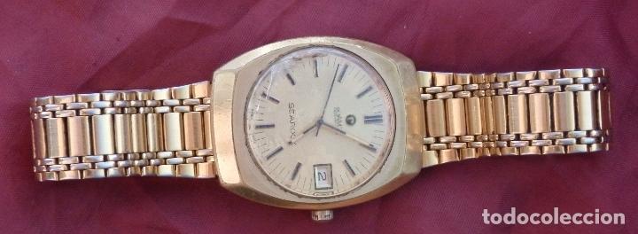 Relojes de pulsera: RELOJ DE PULSERA ROAMER SEAROCK DORADO DE 1975 EN BUEN ESTADO ( EXCEPTO CRISTAL) - Foto 2 - 172982815