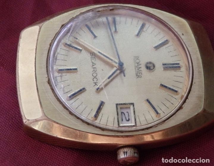 Relojes de pulsera: RELOJ DE PULSERA ROAMER SEAROCK DORADO DE 1975 EN BUEN ESTADO ( EXCEPTO CRISTAL) - Foto 3 - 172982815