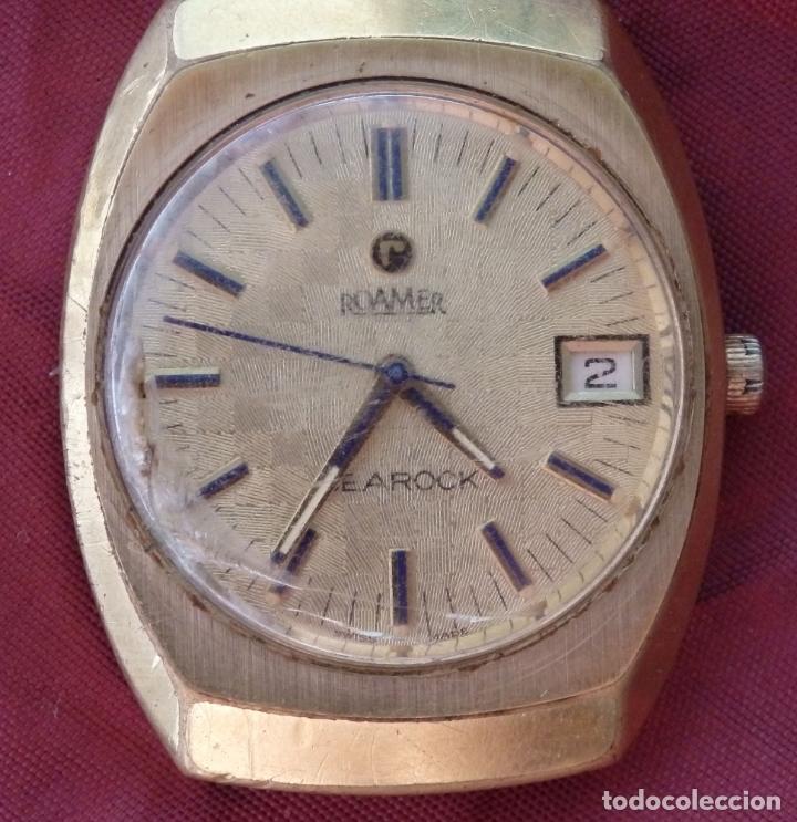 Relojes de pulsera: RELOJ DE PULSERA ROAMER SEAROCK DORADO DE 1975 EN BUEN ESTADO ( EXCEPTO CRISTAL) - Foto 4 - 172982815