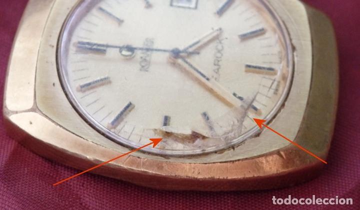 Relojes de pulsera: RELOJ DE PULSERA ROAMER SEAROCK DORADO DE 1975 EN BUEN ESTADO ( EXCEPTO CRISTAL) - Foto 5 - 172982815