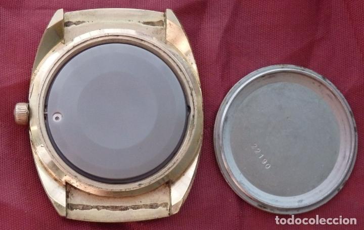 Relojes de pulsera: RELOJ DE PULSERA ROAMER SEAROCK DORADO DE 1975 EN BUEN ESTADO ( EXCEPTO CRISTAL) - Foto 8 - 172982815