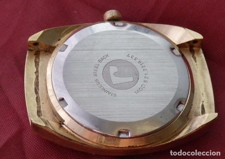 Relojes de pulsera: RELOJ DE PULSERA ROAMER SEAROCK DORADO DE 1975 EN BUEN ESTADO ( EXCEPTO CRISTAL) - Foto 9 - 172982815