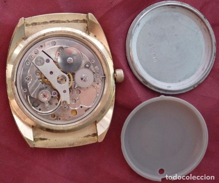 Relojes de pulsera: RELOJ DE PULSERA ROAMER SEAROCK DORADO DE 1975 EN BUEN ESTADO ( EXCEPTO CRISTAL) - Foto 10 - 172982815
