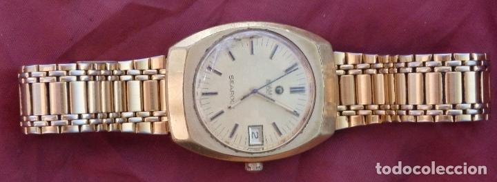 RELOJ DE PULSERA ROAMER SEAROCK DORADO DE 1975 EN BUEN ESTADO ( EXCEPTO CRISTAL) (Relojes - Pulsera Carga Manual)