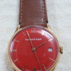 Relojes de pulsera: FANTASTICO Y RARO RELOJ DE PULSERA DE LA MARCA VAN CLEEF & ARPELS, ESFERA ROJA, AÑOS 50, FUNCIONA. Lote 169639860