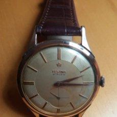 Relojes de pulsera: RELOJ FESTINA 21 RUBIS CHAPADO ORO. Lote 173067835