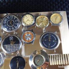 Relojes de pulsera: COLECCION 12 ANTIGUOS AÑOS 90 RELOJES EN CAJA DE MADERA CON VITRINA LOTE WATCHES. Lote 173421863