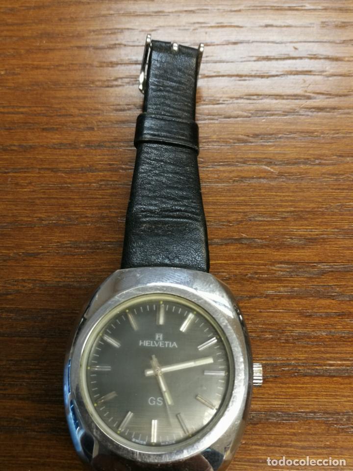 Relojes de pulsera: ANTIGUO RELOJ SUIZO DE CARGA MANUAL MARCA HELVETIA GS FUNCIONANDO - Foto 2 - 173524954