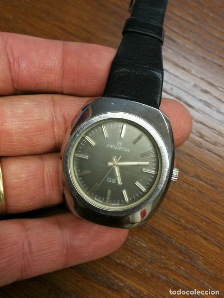 Relojes de pulsera: ANTIGUO RELOJ SUIZO DE CARGA MANUAL MARCA HELVETIA GS FUNCIONANDO - Foto 4 - 173524954