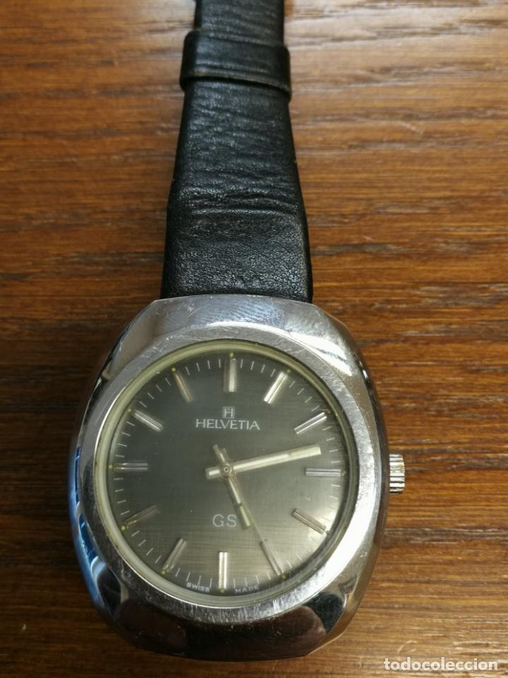 ANTIGUO RELOJ SUIZO DE CARGA MANUAL MARCA HELVETIA GS FUNCIONANDO (Relojes - Pulsera Carga Manual)