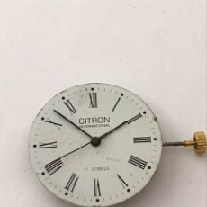 Relojes de pulsera: MAQUINARIA MOVIMIENTO CITRON INTERNACIONAL CARGA MANUAL. Lote 173576115