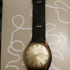 Relojes de pulsera: RELOJ ANTIGUO CAUNY PRIMA DE LUXE SWISS PLAQUEADO ORO FALTA TIJA. FUNCIONA. Lote 173663739