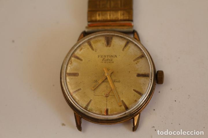 Relojes de pulsera: reloj de caballero FESTINA EXTRA,17 RUBIS - Foto 2 - 173890577