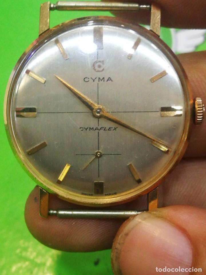 RELOJ CYMA EN SOLIDA CAJA DE ORO DE 18 KILATES CARGA MANUAL FUNCIONA (Relojes - Pulsera Carga Manual)
