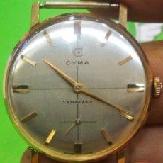 Relojes de pulsera: RELOJ CYMA EN SOLIDA CAJA DE ORO DE 18 KILATES CARGA MANUAL FUNCIONA. Lote 173993607