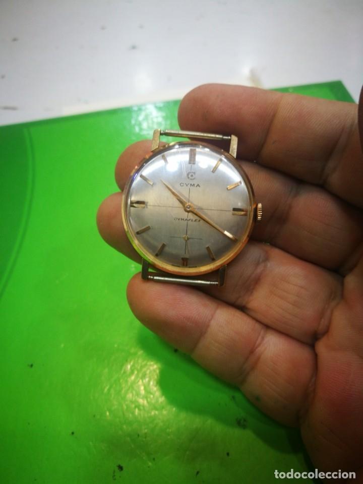 Relojes de pulsera: Reloj CYMA en solida caja de oro de 18 kilates carga manual funciona - Foto 4 - 173993607