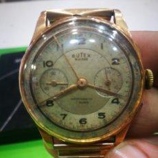 Relojes de pulsera: RELOJ BUTEX EN SOLIDA CAJA DE ORO DE 18 KILATES SUIZO NO FUNCIONA - RARO - OPORTUNIDAD. Lote 173993853