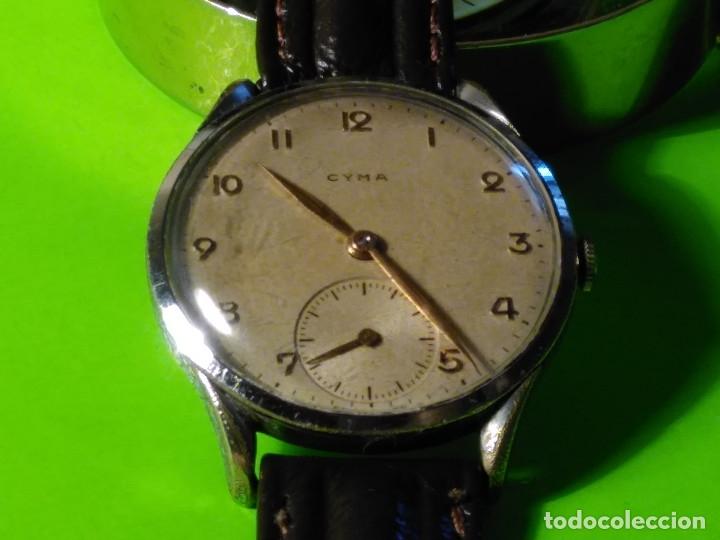 CYMA. R-0586 K. AÑOS 50. MANUAL. FUNCIONANDO BIEN. 36.20 MM. S/C. CALIBRE R-0586 K DESCRIP. Y FOTOS. (Relojes - Pulsera Carga Manual)