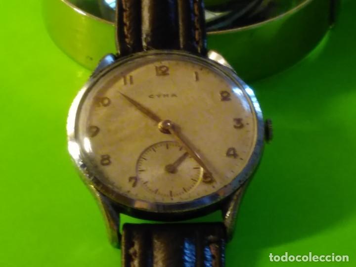 Relojes de pulsera: CYMA. R-0586 K. AÑOS 50. MANUAL. FUNCIONANDO BIEN. 36.20 MM. S/C. CALIBRE R-0586 K DESCRIP. Y FOTOS. - Foto 2 - 174004733
