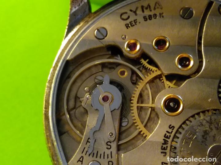 Relojes de pulsera: CYMA. R-0586 K. AÑOS 50. MANUAL. FUNCIONANDO BIEN. 36.20 MM. S/C. CALIBRE R-0586 K DESCRIP. Y FOTOS. - Foto 10 - 174004733