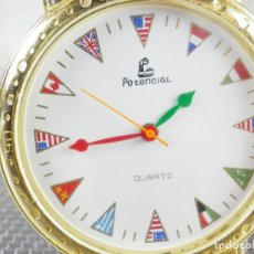 Relojes de pulsera: ORIGINAL ANTIGUO POTENCIAL RETRO AÑOS 80 BANDERAS SIN USO Nº SERIE LOTE WATCHES. Lote 174036925