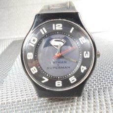 Relojes de pulsera: ORIGINAL Y AUTENTICO RELOJ SUPERMAN Y BATMAN Nº DE SERIE FIN STOK LOTE WATCHES. Lote 174037118