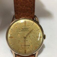 Relojes de pulsera: RELOJ TORMAS SHOCKPROTECTED CARGA MANUAL Y CAJA CHAPADA ORO MAQUINARIA SWISS 1130 EN FUNCIONAMIENTO. Lote 174067558