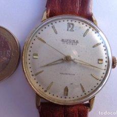 Relojes de pulsera: AÑOS 50 RELOJ CABALLERO CUERDA BIFORA, GRANDE COMPLETO Y FUNCIONANDO PERFECTO. Lote 174092348