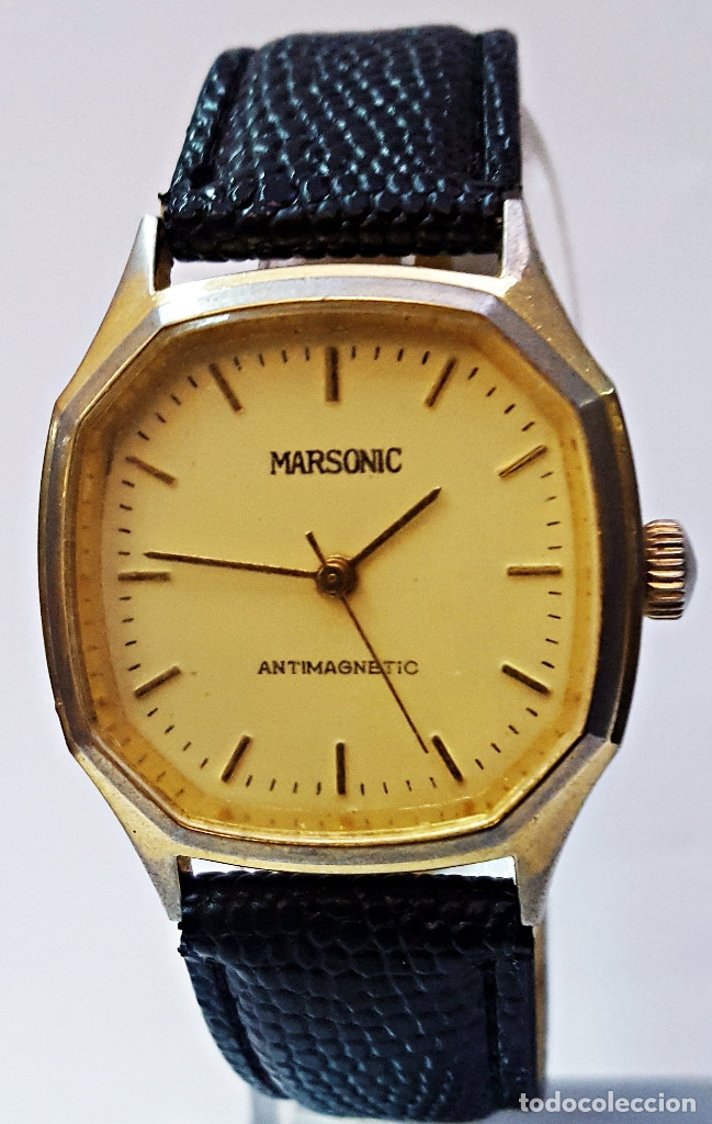 Relojes de pulsera: Reloj MARSONIC ANTIMAGNETIC de carga manual. - Foto 2 - 174096129