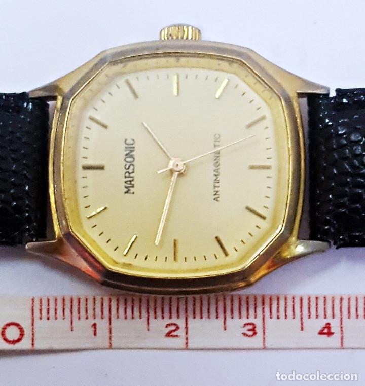 Relojes de pulsera: Reloj MARSONIC ANTIMAGNETIC de carga manual. - Foto 4 - 174096129