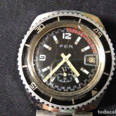 Relojes de pulsera: RELOJ DE PULSERA. FER. STAINLESS STEEL BACK. ANTICHOC. ANTIMAGNETIC. CALENDARIO.. Lote 174144667