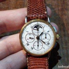 Relojes de pulsera: RELOJ BAUME & MERCIER GENEVE Nº1830, ACERO Y ORO, CALENDARIO, FASE LUNAR Y CRONÓGRAFO. Lote 52503285