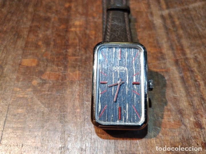 RELOJ DE PULSERA DOGMA FINE, CARGA MANUAL, FUNCIONANDO. MUY ORIGINAL ESFERA (Relojes - Pulsera Carga Manual)