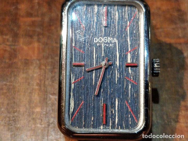Relojes de pulsera: Reloj de pulsera Dogma Fine, carga manual, funcionando. Muy original esfera - Foto 3 - 53703881
