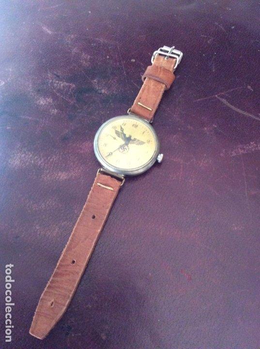 Relojes de pulsera: Antiguo Reloj De cuerda , esfera nazi de bronce . Muy raro . - Foto 2 - 175277753
